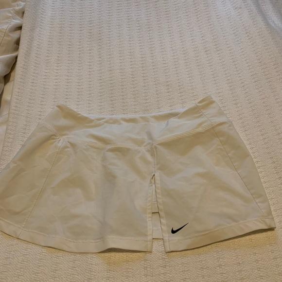 White Nike Dri-Fit Tennis Skirt
